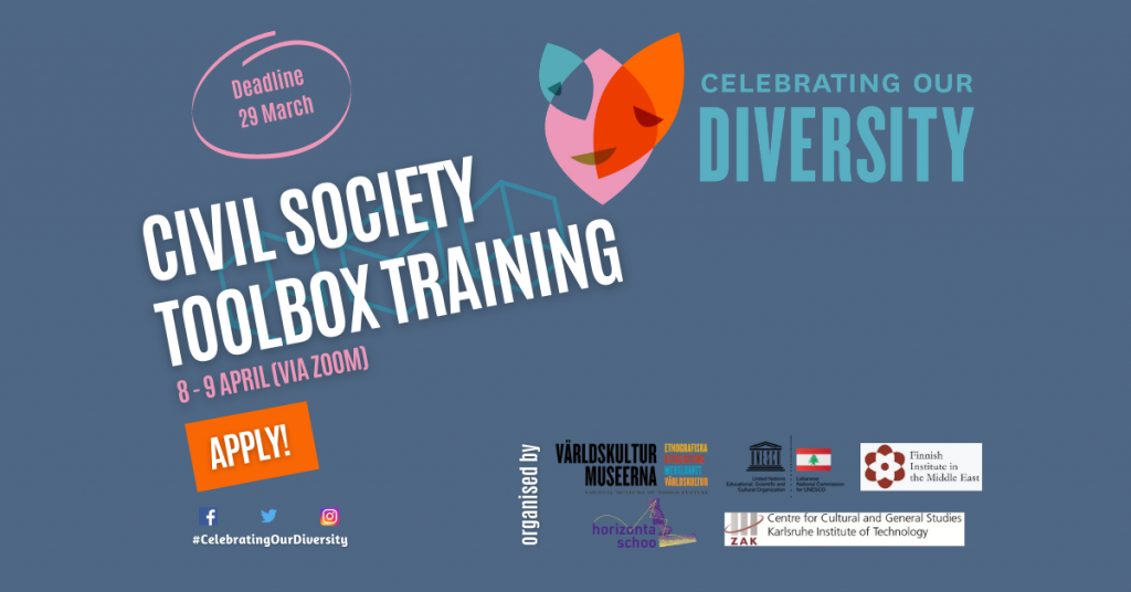 Civil Society Toolbox training event banner.